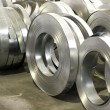 Stock Photo: Sheet tin metal rolls in production hall