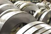 Rollos de metal de hoja de lata — Foto de Stock