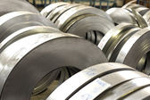 Sheet tin metal rolls — Stockfoto