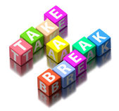 Take a break words made of colorful toy blocks — Stock Photo