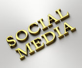 Social media concept - Social media words made from gold — Stock Photo