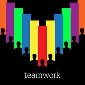 Teamwork colorful vector concept — Stock Vector