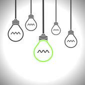 Light bulb vector icon — Stock Vector