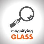 Magnifying glass vector icon — Stock Vector