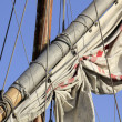 Details caravels, ships — Stock Photo