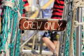 Crew only, details caravels, crew only — Stock Photo