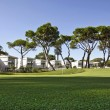 Retirement community condos on a resort golf course — Stok fotoğraf