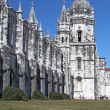 "The historic monastery ""Mosteiro dos Jeronimos"" of Lisbon in Por - Stock Photo"