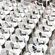 Rows of chairs for outdoor dehors alfresco bar and live gig conc — Stock Photo #16974631