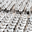 Rows of chairs for outdoor dehors alfresco bar and live gig conc — Stock Photo #16974641