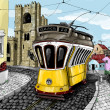 Illustration, lisbon — Stock Photo