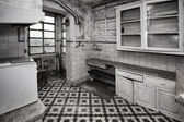 Empty dirty kitchen. — Stock Photo