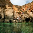 Grottos in Lagos, south of Portugal. — Stock Photo