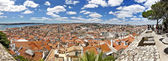Lisbon, panoramic view of the castle São Jorge — Stock Photo