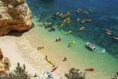 Beach in Lagos, Algarve, Portugal, cayake, cayak — Foto Stock