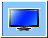 Isolerade tv skärmen klistermärke — Stockvektor