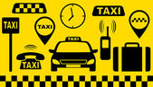 Transport set of taxi objects — Stock Vector