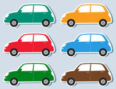 Set of stickers retro car — Stock Vector