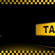 Taxi background with car and city light — Stock Vector