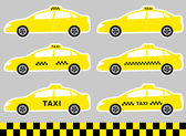 Set of cabs with taxi sign — Stock Vector