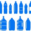 Set of isolated water bottle icon — Stock Vector #20047897