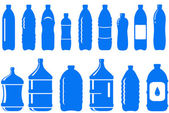 Set of isolated water bottle icon — Stock Vector