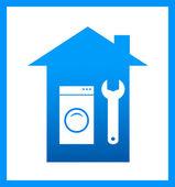 ícone com chave e lavagem mashine — Vetorial Stock