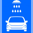 Icon with car washing - Imagen vectorial