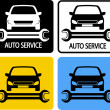 Auto service icons set - Stock Vector