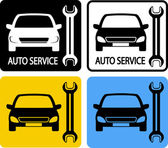 Set of auto service icons — Stock Vector