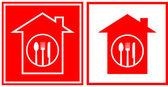 Restaurant icons with utensil — Stock Vector