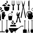 Isolated garden tools — Stock Vector
