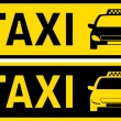 Black and yellow taxi sign — Stock Vector #30841359