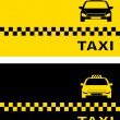 Black and yellow taxi card — Stock Vector