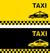 Black and yellow taxi business card — Stock Vector