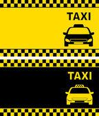 Taxi business card — Stock Vector