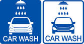 Two car wash icons — Stock Vector