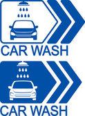 Car wash icon with arrow — Stock Vector
