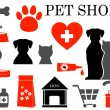 Stock Vector: Set of pet icons