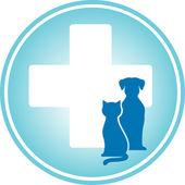 Blue veterinary symbol — Stock Vector