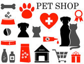 Set of pet icons — Stock Vector