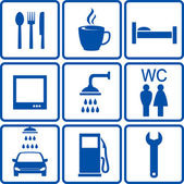 Automotive road signs — Stock Vector