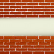 Red brick wall and place for text — Stock Vector #34569831