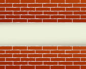 Red brick wall and place for text — Stok Vektör