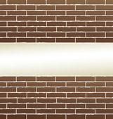Fundo de parede de tijolo com lugar em branco — Vetor de Stock