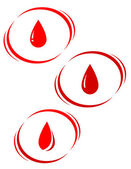 Set of blood drops — Stock Vector