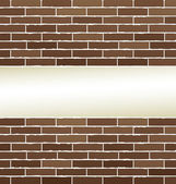Bricks texture with white background — Vector de stock