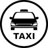 Black taxi car — Stock vektor