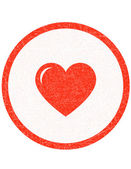 Red heart stamp — Stock Vector