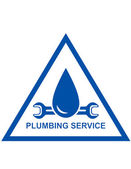 Symbol of plumbing service — Stockvektor
